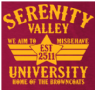 SERENITY VALLEY UNIVERSITY M/BAG - INSPIRED BY FIREFLY SERENITY